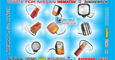 Đèn xe nâng, đèn pha Led, đèn xi nhan, đèn hậu, đèn cảnh báo 12V 24V 48V
