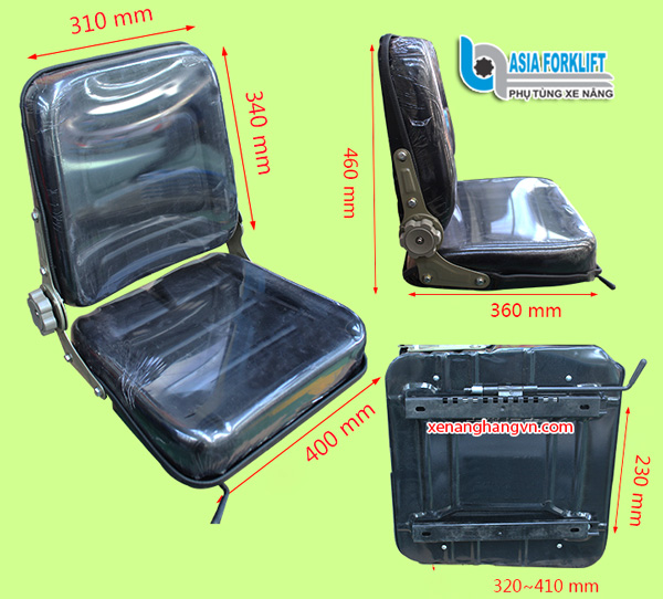 Ghế xe nâng ngang 420mm