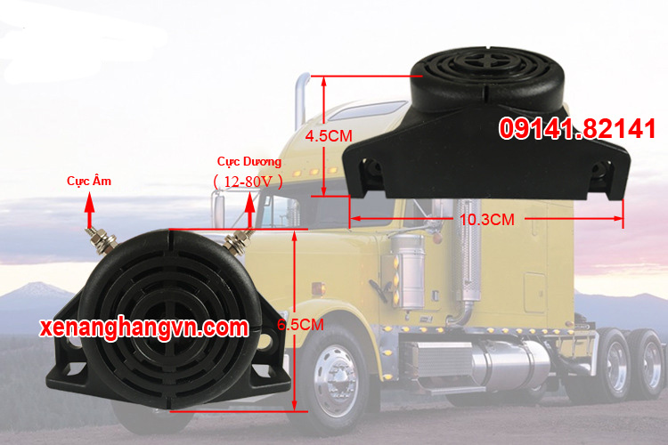 Kèn de xe nâng, xe tải, xe xúc, xe công