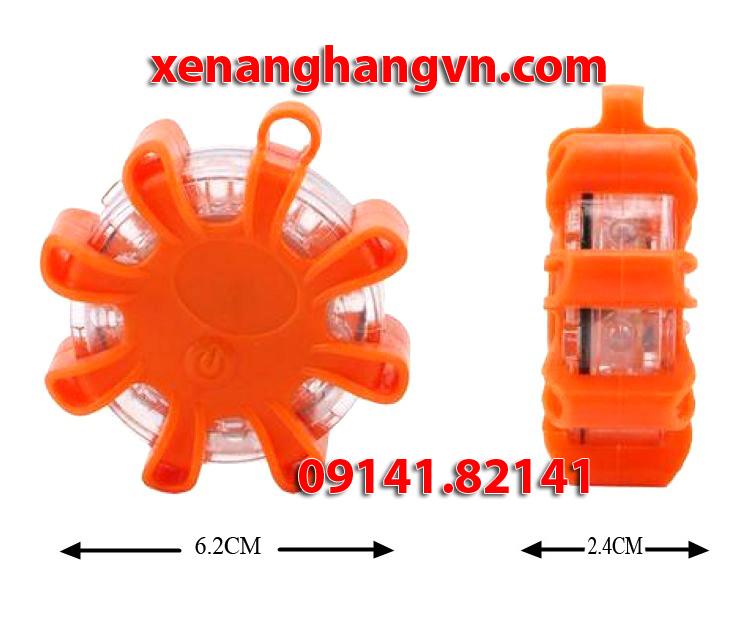 kích thước đèn led cảnh báo dùng pin