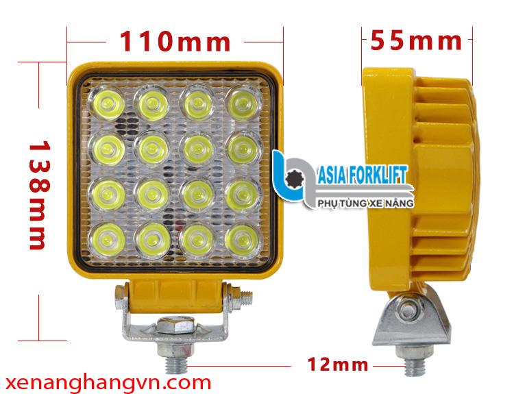 Đèn pha led xe nâng 12~80V, 16 bóng - 48W